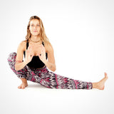 Grey & Pink Zags Yoga Meditation Pants