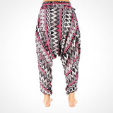 Harem Pants Grey Zags Buddha Pants UK