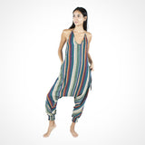 Stripes Harem Jumpsuit (Green)