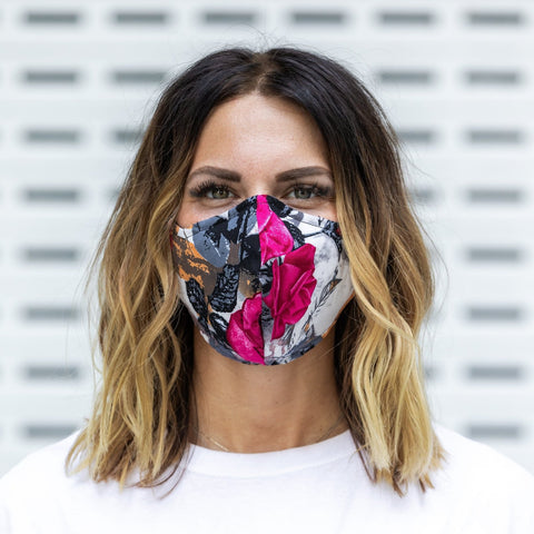 Cloth Face Mask by Buddha Pants Pink Kira