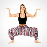 Grey Zags Dance Harem Pants
