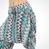 Green Zags Detail ~ Yoga Pants for Men and Women