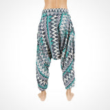 Baggy Harem Pants ~ Green Zags by Buddha Pants UK