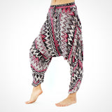 Buddha Pants UK Pink Grey Zags Yoga Pants Unisex