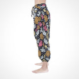 Black Harem Pants Elephant Print Yoga