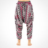 Grey Zags Yoga Harem Pants