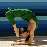 Buddha Pants Green Jumpsuit Yoga Wheel