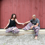 Buddha Pants UK Pink Grey Zags Yoga Pants for Men