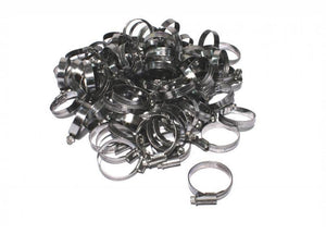 "100pc Hose Clamps Steel Metal Adjustable Band 1/4"" To 5/8"""
