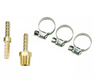 "5Pc 3/8"" Air Hose Repair Kit  Air Tools Hose End Mender And Clamp 1/4"" NPT"