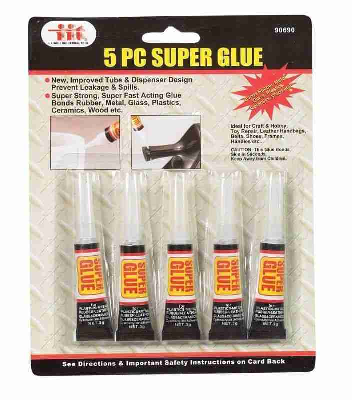 5-pc Super Glue Super Strong Fast Acting Glue Bonds Rubber Metal