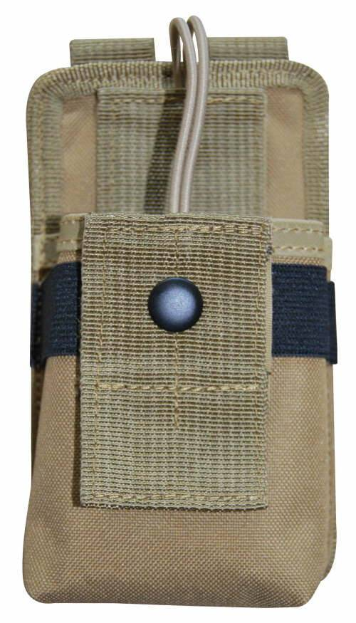 MOLLE Tactical Handheld Field 2 Way Radio Pouch Tan Nylon