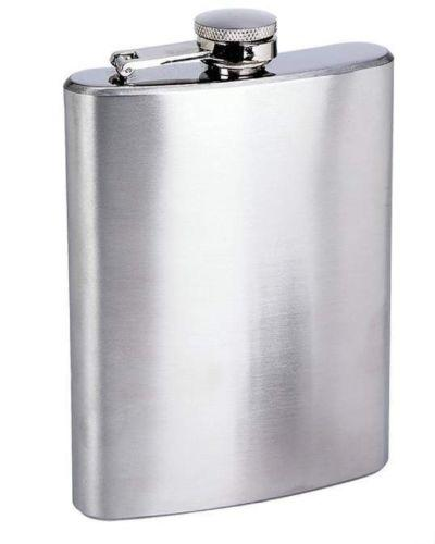 Stainless Steel Hip Flask - Silver (8 Oz)