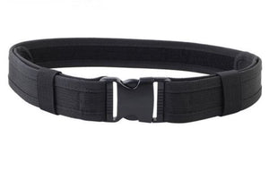 "Black Utility Nylon Duty Belt 2""Police Swat Security Tactical Combat Gear"
