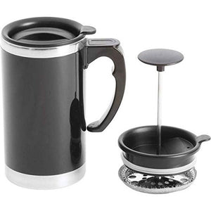 Wyndham House 21oz Stainless Steel Lined Double-Wall Travel French Press Coffee