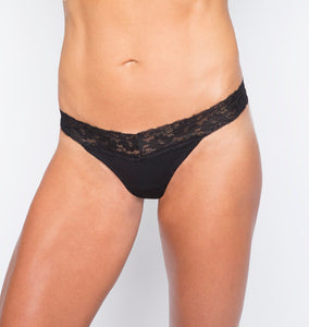 Camel Toe Prevention Lace Thong - Front