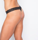 Camel Toe Prevention Lace Thong - Back
