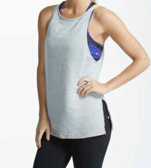 Vimmia Pacific Tie Back Tank - Heather Grey