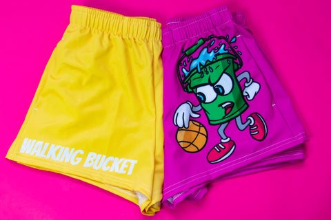 "Walking Bucket ""LOGO"" Shorts (Men) (Berry Pink)"
