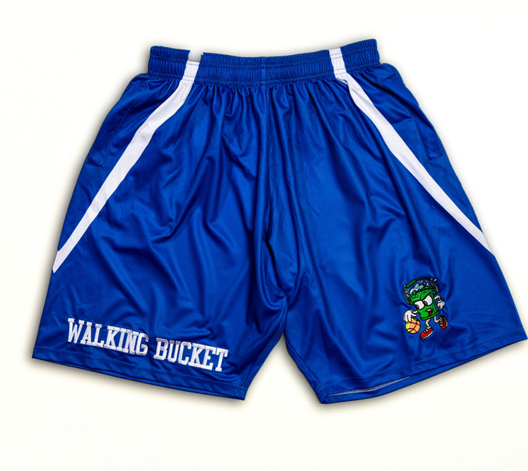 "WALKING BUCKET ""Cold Blooded"" Blue Shorts"