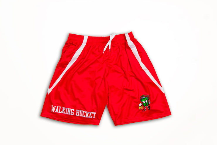"WALKING BUCKET ""Fire Alarm Red"" Shorts"