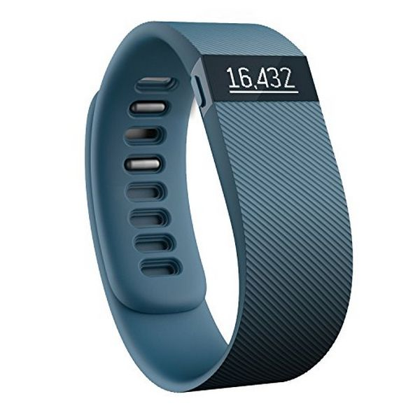 Activity Bangle Fitbit Charge 148041 OLED Bluetooth 4.0 Android /iOS Slate Blue Size L