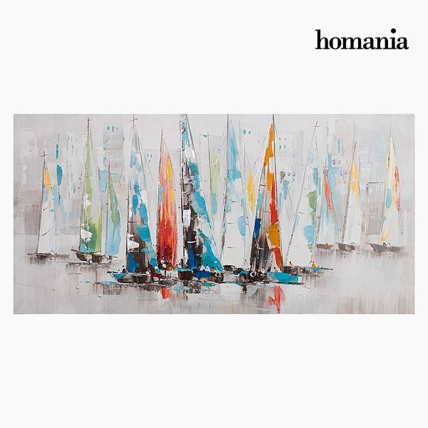 Oil Painting Yachts (140 x 70 cm) by Homania