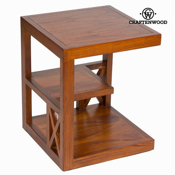 Side table with forest shelving  - Chocolate Collection by Craftenwood