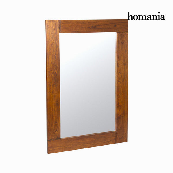 Walnut nature wall mirror - Nogal Collection by Homania