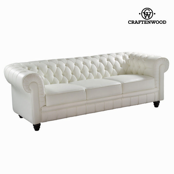 White three-seat sofa by Craftenwood