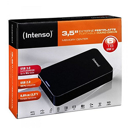 "External Hard Drive INTENSO 6031514 3.5"" USB 3.0 6 TB Black"