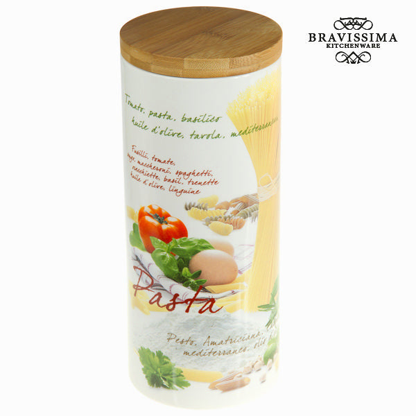 Mediterranean pasta jar - Kitchen's Deco Collection by Bravissima Kitchen