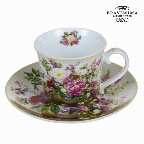 Natural bouquet cup with saucer - Kitchen's Deco Collection by Bravissima Kitchen
