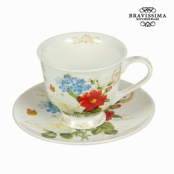 Cup with saucer flowers bouquet - Kitchen's Deco Collection by Bravissima Kitchen