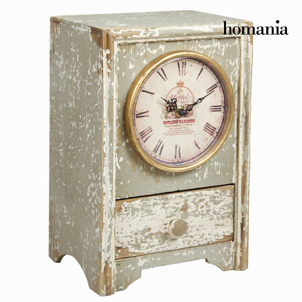 Wooden table clock grey by Homania