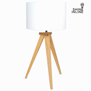 Beech wood table lamp by Shine Inline