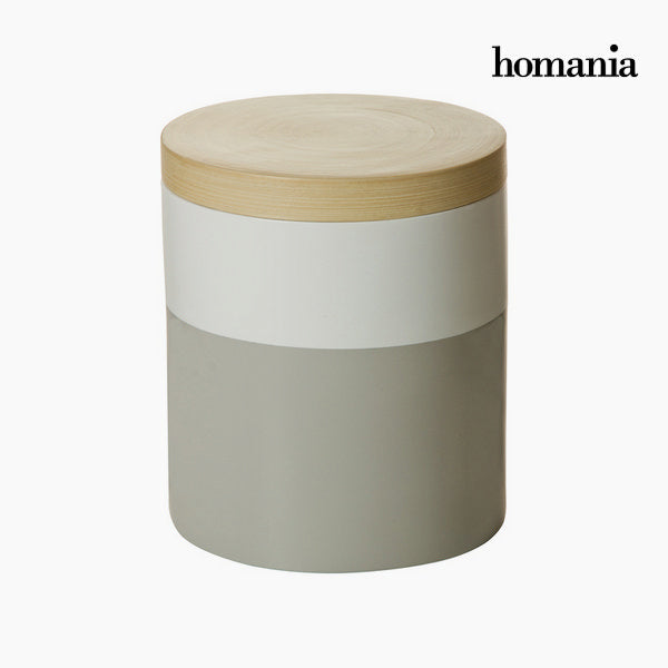 Bamboo box gray and white by Homania