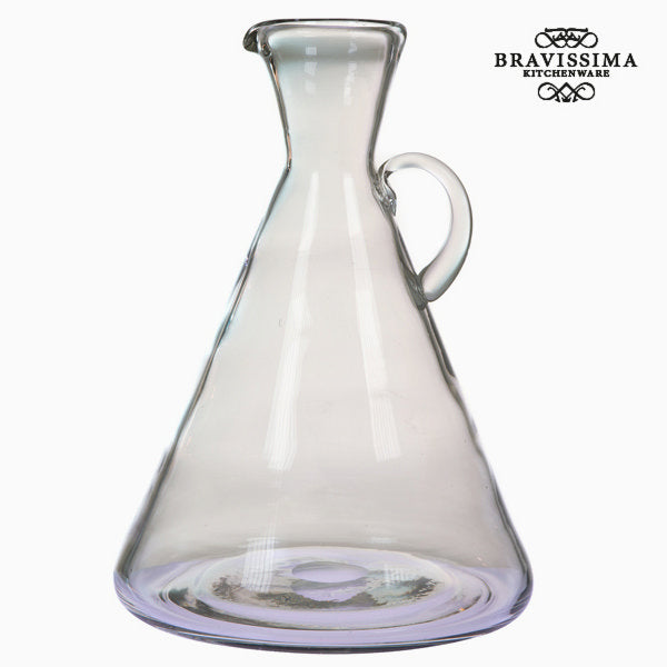 Transparent glass jar with han by Bravissima Kitchen