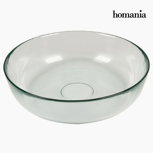Recycled Glass Bowl Smooth / Small Transparent - Pure Crystal Kitchen Collection by Homania