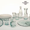 Recycled Glass Vase Low - Pure Crystal Kitchen Collection by Bravissima Kitchen