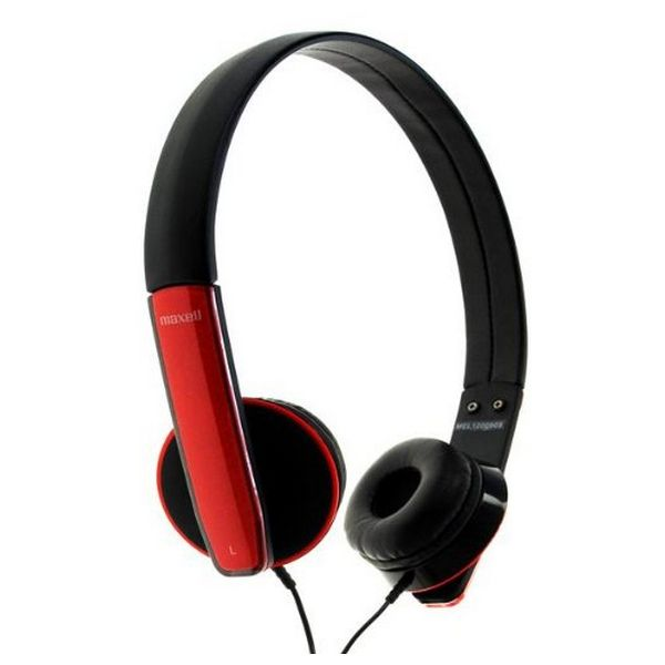 Headphones with Microphone Maxell HP-MIC M410 Red