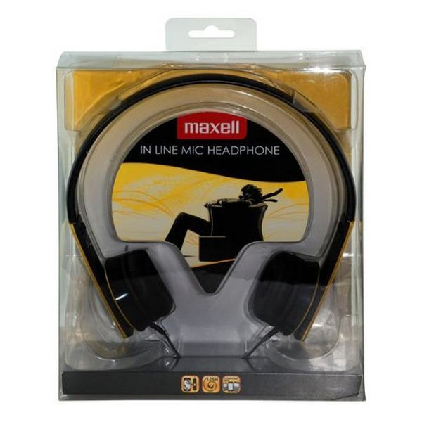 Headphones with Microphone Maxell HP-MIC M410 Yellow