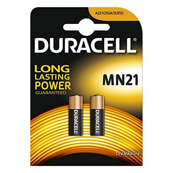 Alkaline Batteries DURACELL Security DRB212 LR23A MN21 12V 1.5W|(2 pcs)