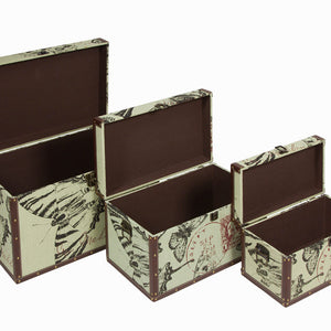 Set of 3 storage chests - Printed Collection by Craftenwood