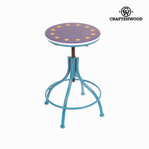 Stool metallic blue by Craftenwood