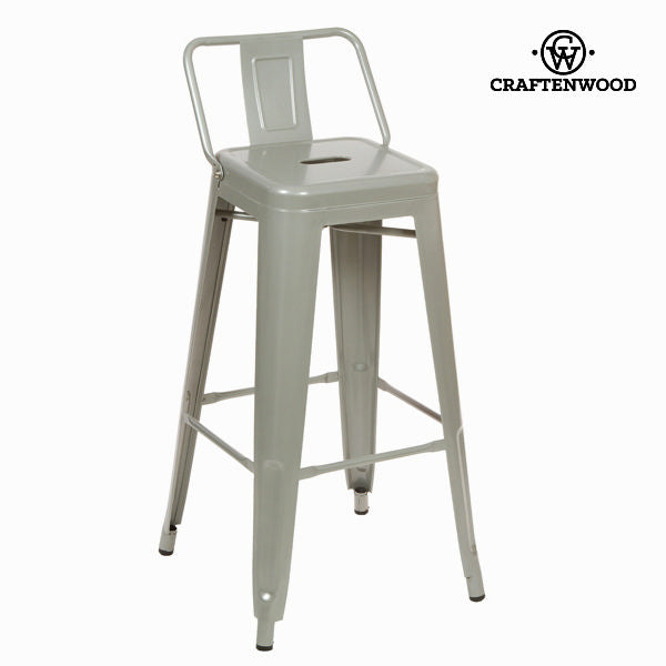 Silver metal bar stool by Craftenwood