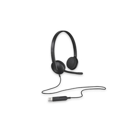Headphones with Microphone Logitech H340 USB 1,8 m Black