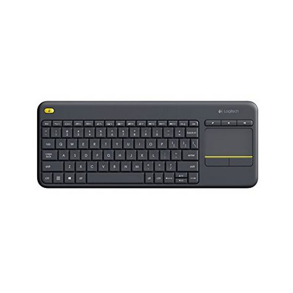 Keyboard with Touchpad Logitech K400 Plus Black