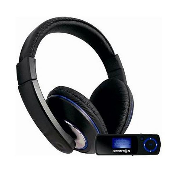 Headphone with Microphone + MP3 Player BRIGMTON BPA-4070-AA FM SD