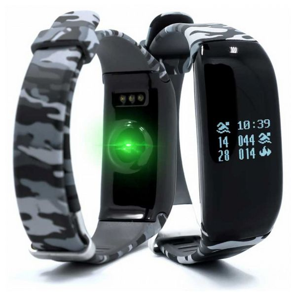 "Activity Bangle BRIGMTON BSPORT-14-C OLED 0.69"" Bluetooth 4.0 IP67 Android /iOS 30 g Camouflage"